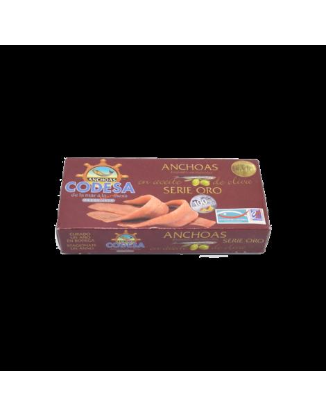 Filetti acciughe mar cantabrico in olio oliva g 50 scatola latta