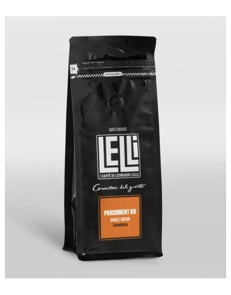 Parchment KR India monorigine di Caffè Macinato moka 250 g Torrefazione Lelli