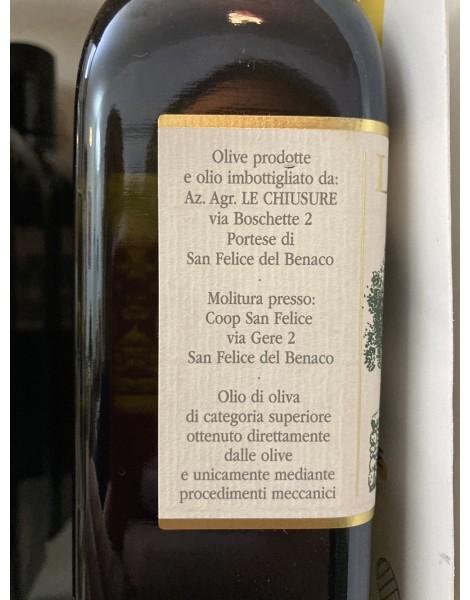 OLIO EXTRA VERGINE D'OLIVA DEL GARDA DOP BOTT 0,50 L Le chiusure