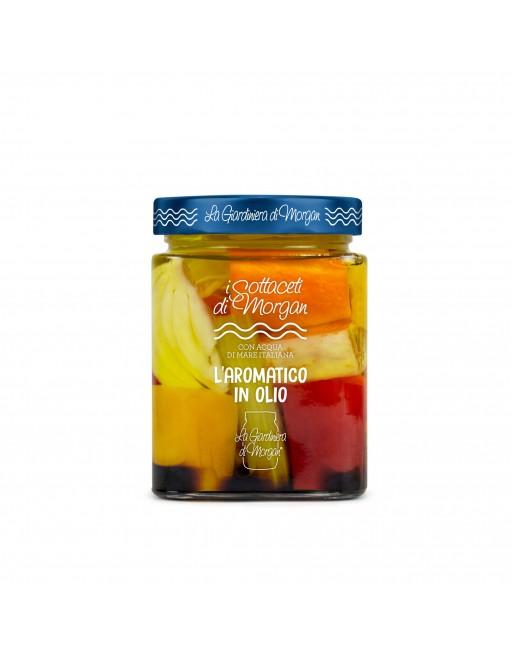 L'aromatico in olio La Giardiniera di Morgan vaso 600 g