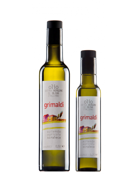Olio extra vergine oliva Grimaldi Valcamonica Bott. 0.25